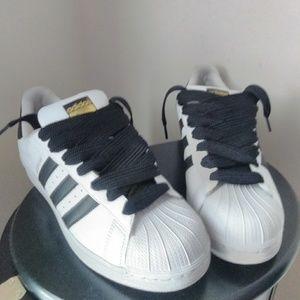 White And Black Shell Toe Adidas   Poshmark